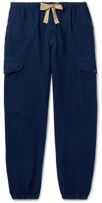 Gucci Tapered Herringbone Denim Cargo Trousers