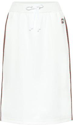 Gucci Cotton-blend midi skirt