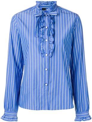 Etro Striped Ruffle Trim Shirt