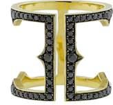 SYLVA & CIE Black Diamond Cage Ring