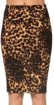 Magic Fit Brown Leopard Pencil Skirt