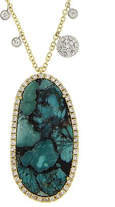 Meira T 14K & Silver 13.45 Ct. Tw. Diamond & Tanzanite Necklace