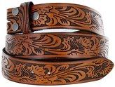 """Belts Western Floral Embossed Vintage Soft Genuine Leather Belt Strap 1.5"""""""