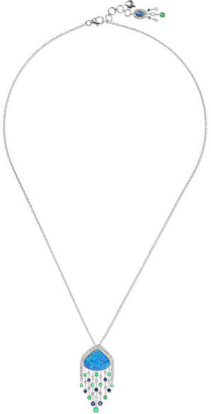 Amrapali 18-karat White Gold Multi-stone Necklace