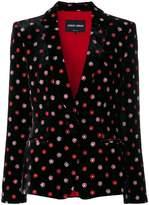 Giorgio Armani floral motif blazer