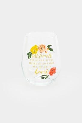 francesca's Best Friends Floral Stemless Wine Glass