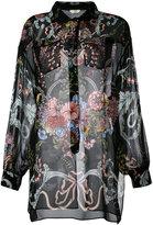 Fendi floral print shirt - women - Silk - 38