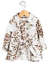 Roberto Cavalli Girls' Printed Double-Breasted Jacket