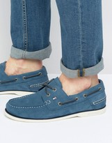 Tommy Hilfiger Knot Suede Boat Shoes