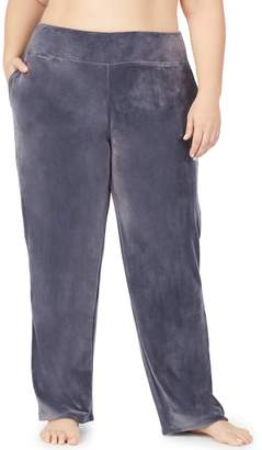 Cuddl Duds Women's Plus Double Plush Velour Lounge Pants