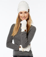 Rampage Slouchy Button Beanie and Gloves Set, Only at Macy's