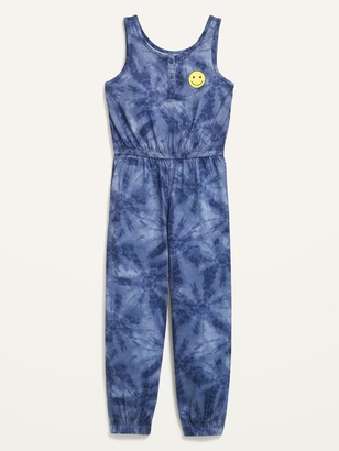 Old Navy Sleeveless Printed Pajama Jumpsuit for Girls