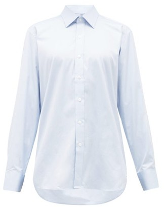 Emma Willis Selva Cotton Shirt - Womens - Light Blue