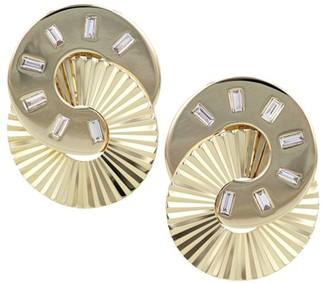 Phillips House Aura 14K Yellow Gold & Diamond Baquette Interlocking Stud Earrings