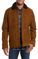 Jeremiah Men's Terra Broken Twill Jacket With Faux Shearling Trim