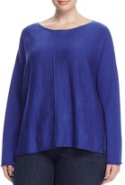 Eileen Fisher Plus Wool Drop Shoulder Sweater