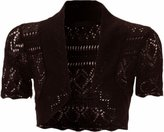Xclusive Collection Womensplus Size Kinnted Boleros Crochet Shrugs Cardigans (16/18, )