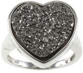 Pearlz Ocean Druzy Heart Fashion Ring 9 Jewelry for Women