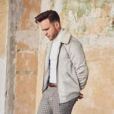Mens Olly Murs faux suede borg collar jacket