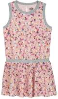 Juicy Couture Knit Layered Daisies Printed Lace Dress