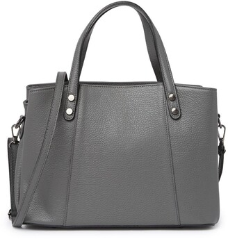 Anna Luchini Top Handle Pebbled Leather Satchel
