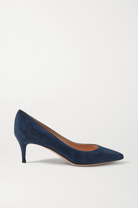 Gianvito Rossi 55 Suede Pumps - Midnight blue