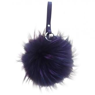 Max Mara Purple Faux fur Bag charms