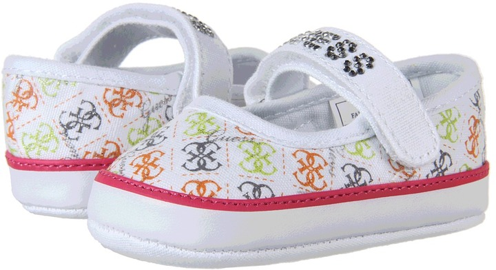 GUESS Kids' - Laverne MJ (Infant) (White Multi Canvas) - Footwear