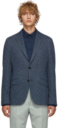 Etro Blue Morbida Regular Fit Blazer