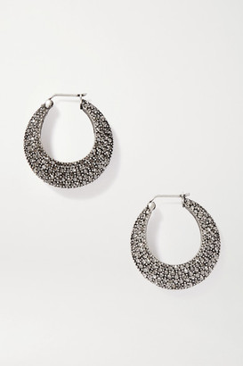 Etro Silver-tone Crystal Hoop Earrings