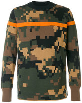 Sacai pixel camouflage sweater