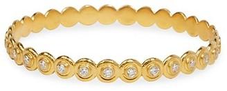 Gurhan Droplet 24K Yellow Gold & Diamond Bangle Bracelet
