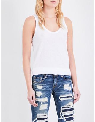 Rag & Bone Ladies Bright White Scoop Neck Cotton-Jersey Top