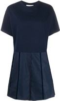 See by Chloe short sleeve scalloped details dress