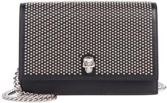 Alexander McQueen Small Skull Studded Leather Shoulder Bag