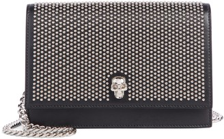 Alexander McQueen Small Skull Studded Leather Shoulder Bag