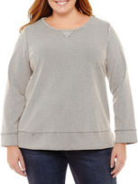 Liz Claiborne Long Sleeve Box Knit Tunic-Plus