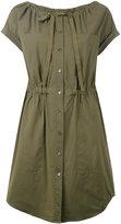 Theory gathered waist shirt dress - women - Cotton - 0