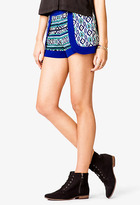 Forever 21 Scarf Print Dolphin Shorts