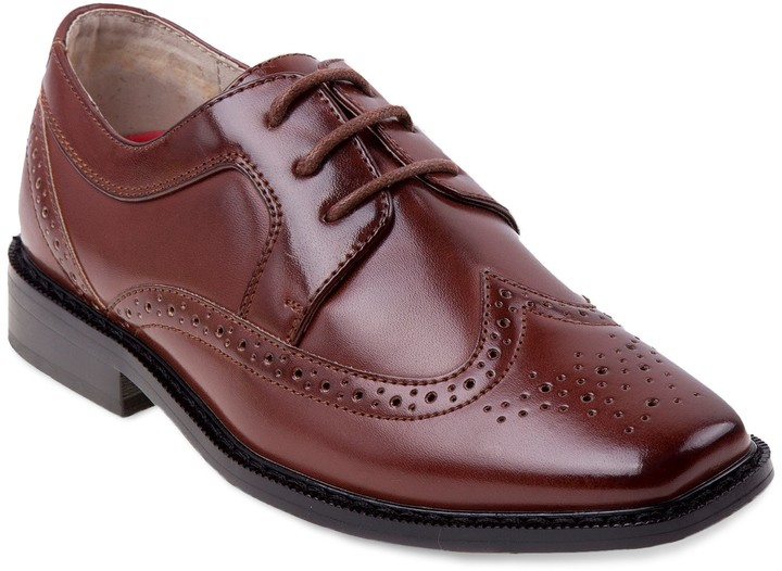 Boys Brown Wingtip Shoes - ShopStyle