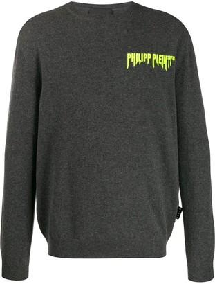 Philipp Plein Logo Embroidered Crew Neck Jumper