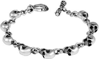 King Baby Studio Sterling Silver Skull Bracelet