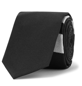 Thom Browne 5cm Striped Wool Tie
