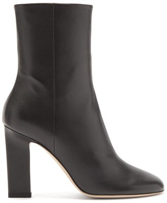 Wandler Carly Block-heel Leather Ankle Boots - Black