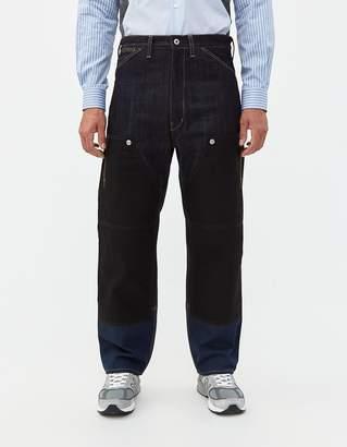 Junya Watanabe Levi's Panelled Pant in Indigo/Black