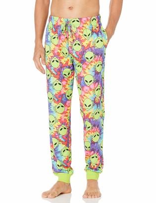 Mad Engine Men's Tie Dyed Aliens Jogger Style Sleep Lounge Pants Pajama Bottoms