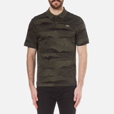 Lacoste L!ve Men's Graphic Printed Polo Shirt Baobab/Black