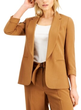 Bar III Cuffed Open-Front Blazer, Created for Macy's