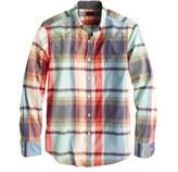 J.Crew Indian cotton shirt in poppy plaid