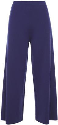 Gentryportofino Cropped Wool-blend Wide-leg Pants